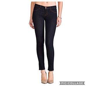 J Brand Mid-Rise Super Skinny Jeans in Starless